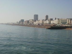 Brighton from the boat.
