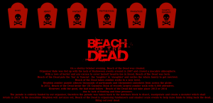 Beach of the Dead - Screenshot of the official website